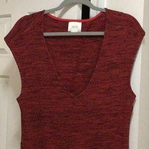 Maeve Red & Black Rib Knit Dress Sz XL